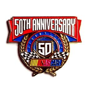 NASCAR 50th Anniversary 1998 Lapel Pin